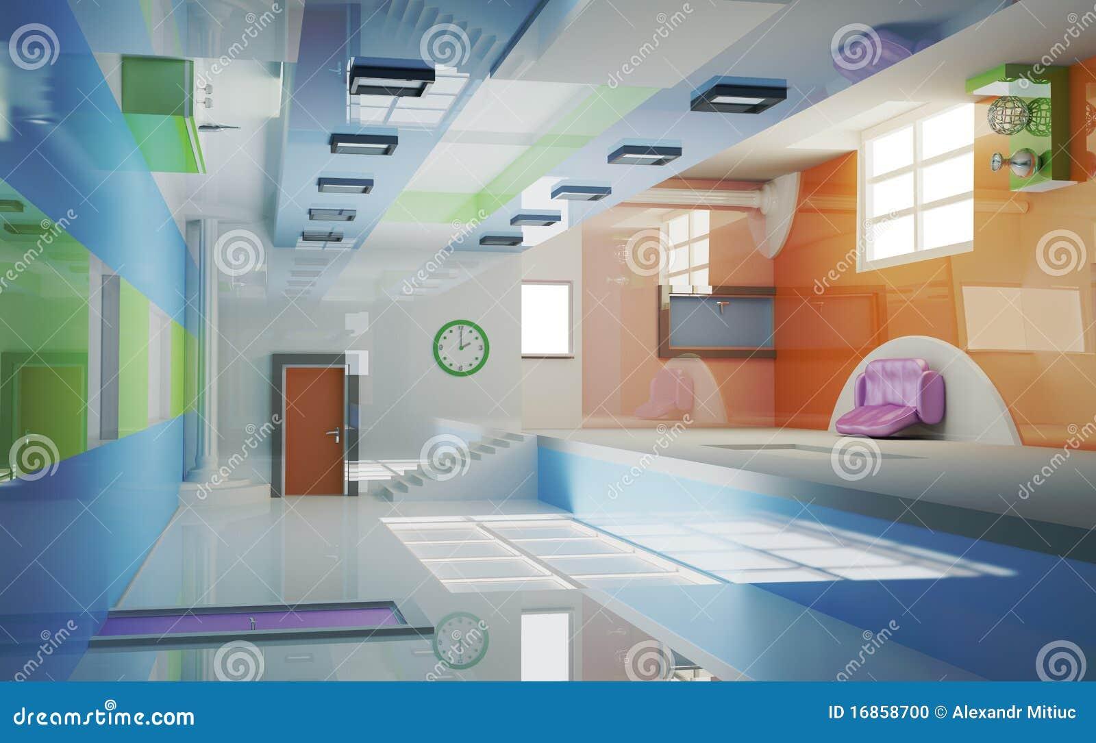 Interior futurista. Multigravitation