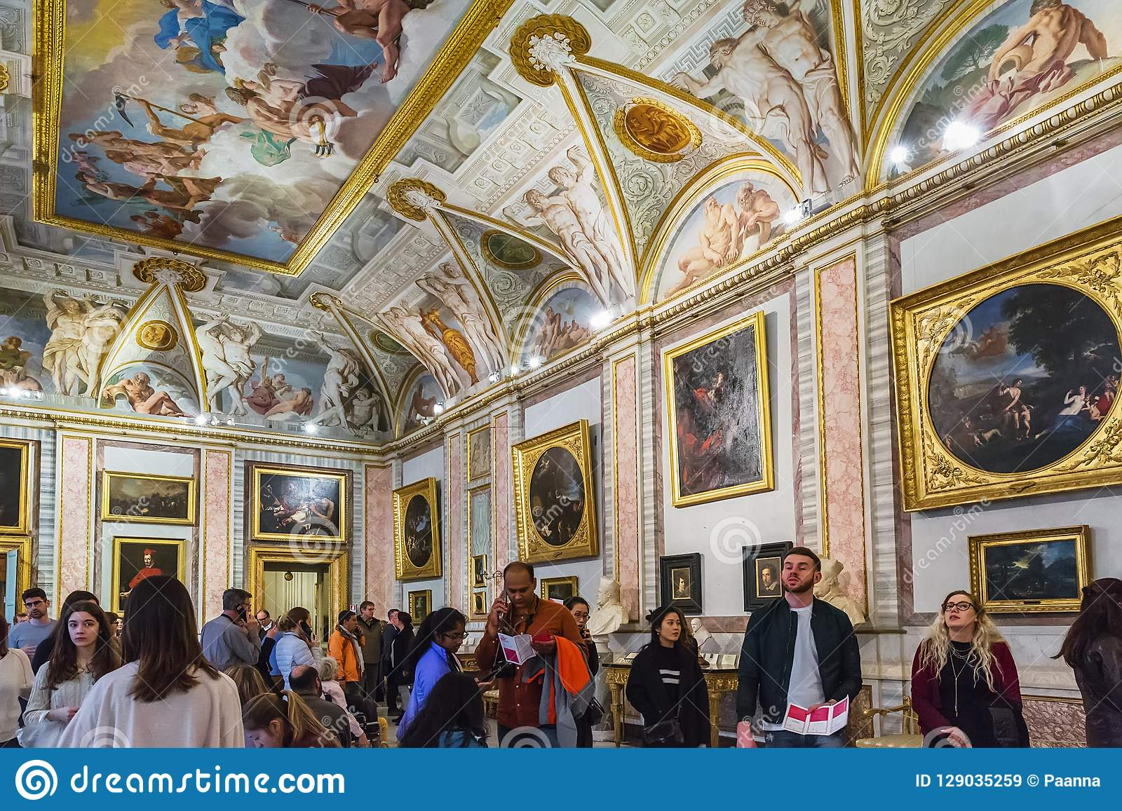 Interior Of The Gallery Borghese, Rome, Italy Editorial ...