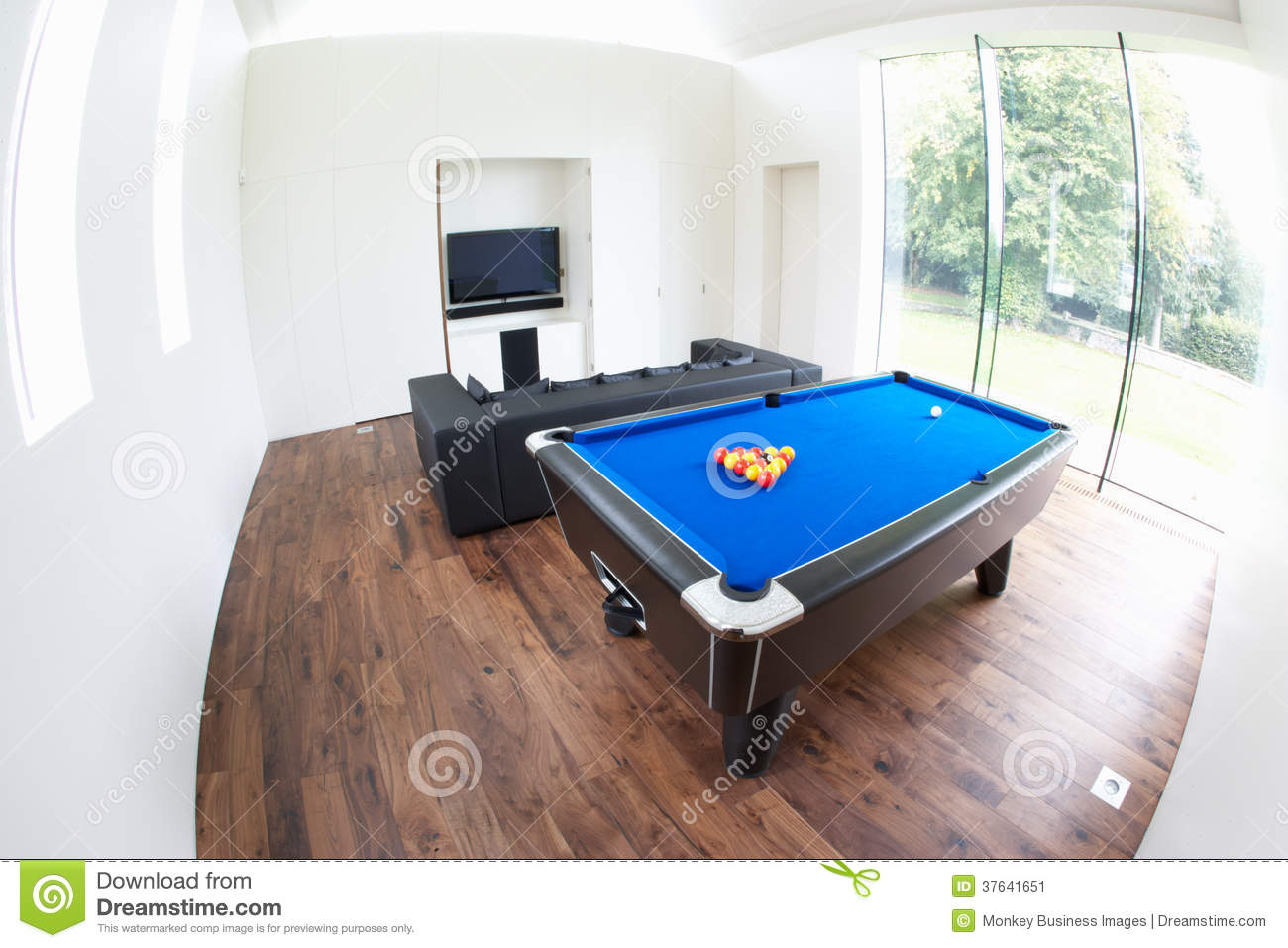 Interior of games room in modern house stock image image - Game room in house ...