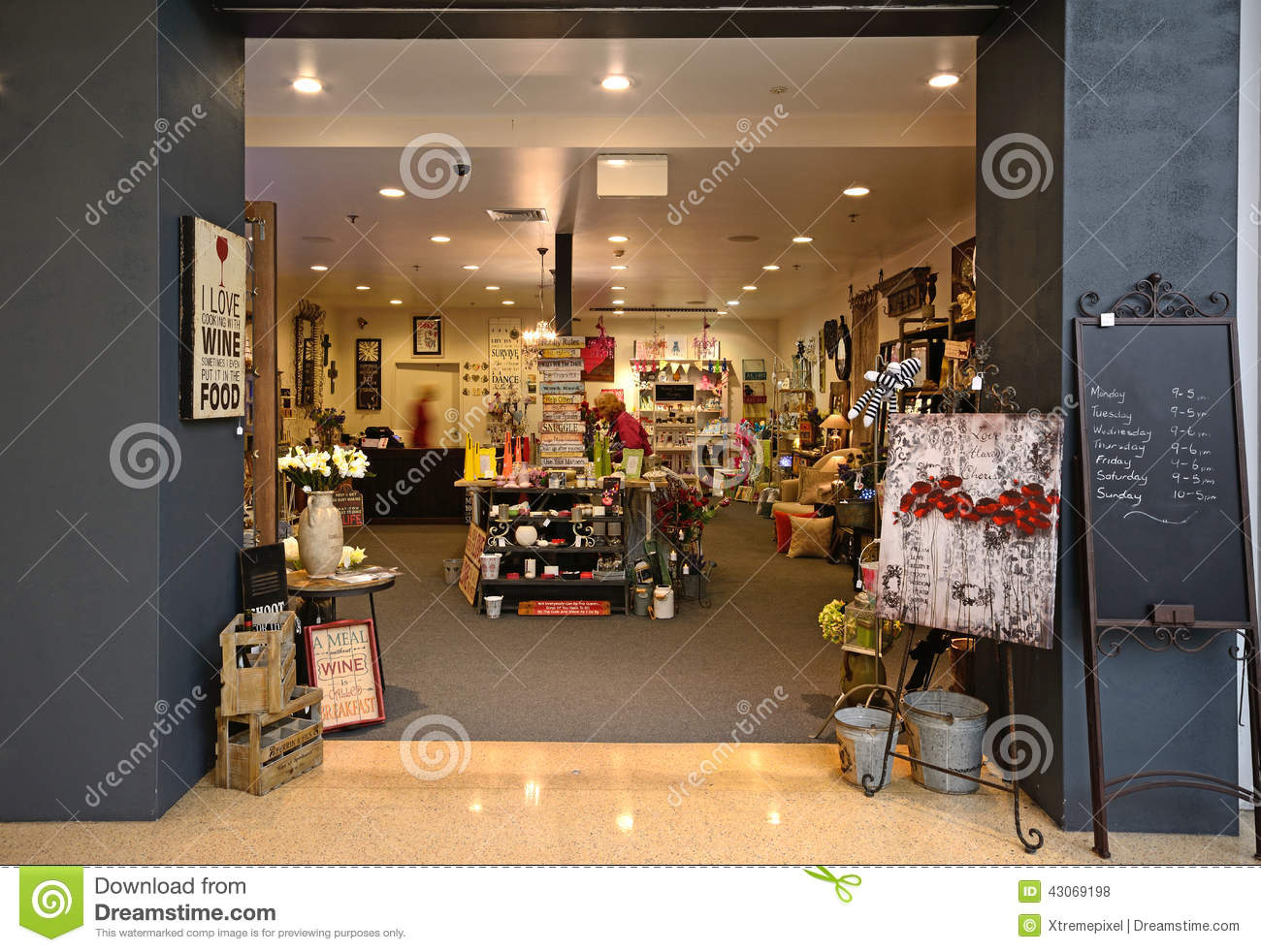 Interior Of A Gift Shop Editorial Stock Photo Image