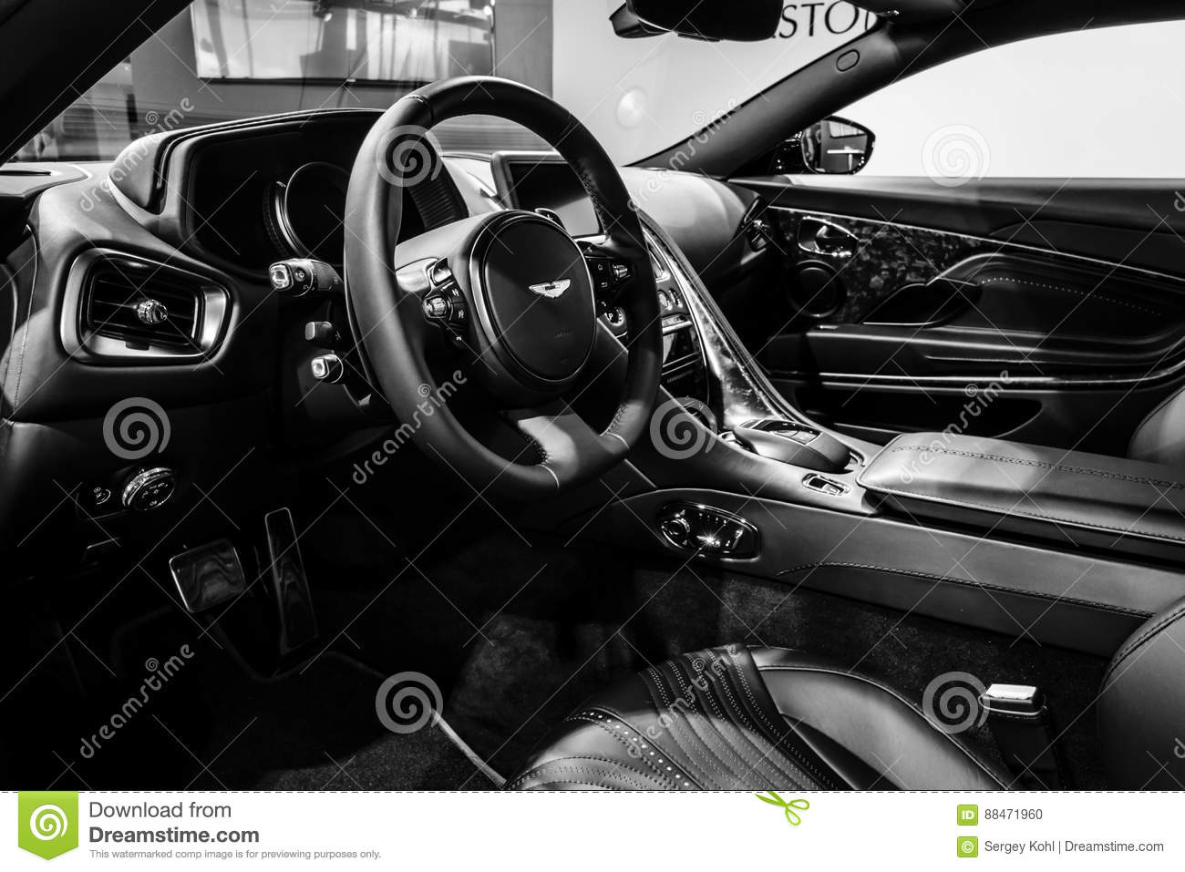 The Interior Of The Grand Tourer Car Aston Martin Db11 2016 Editorial Image Image Of Black Coupe 88471960