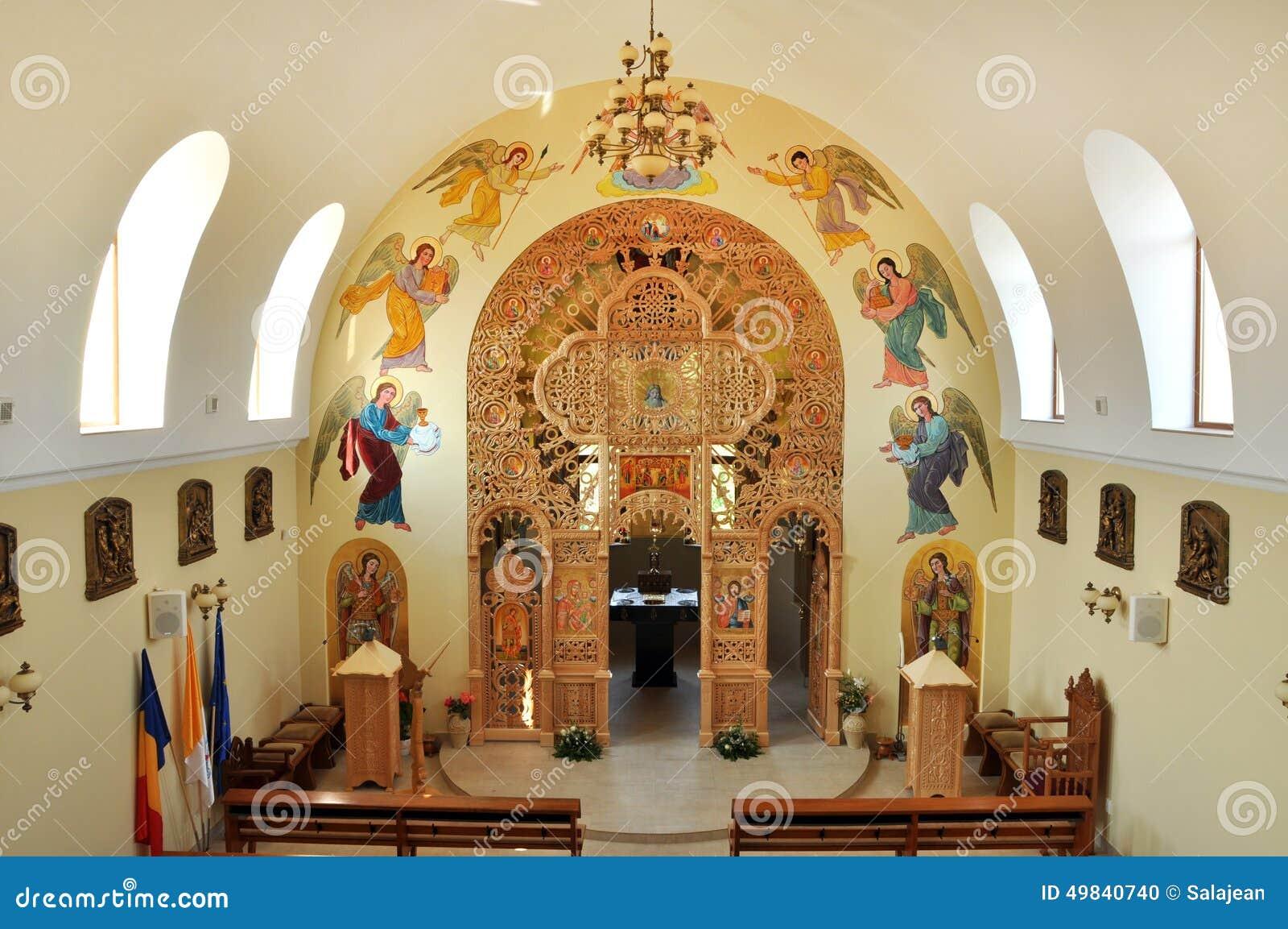 Iconostas in greek orthodox basilica of st george editorial .