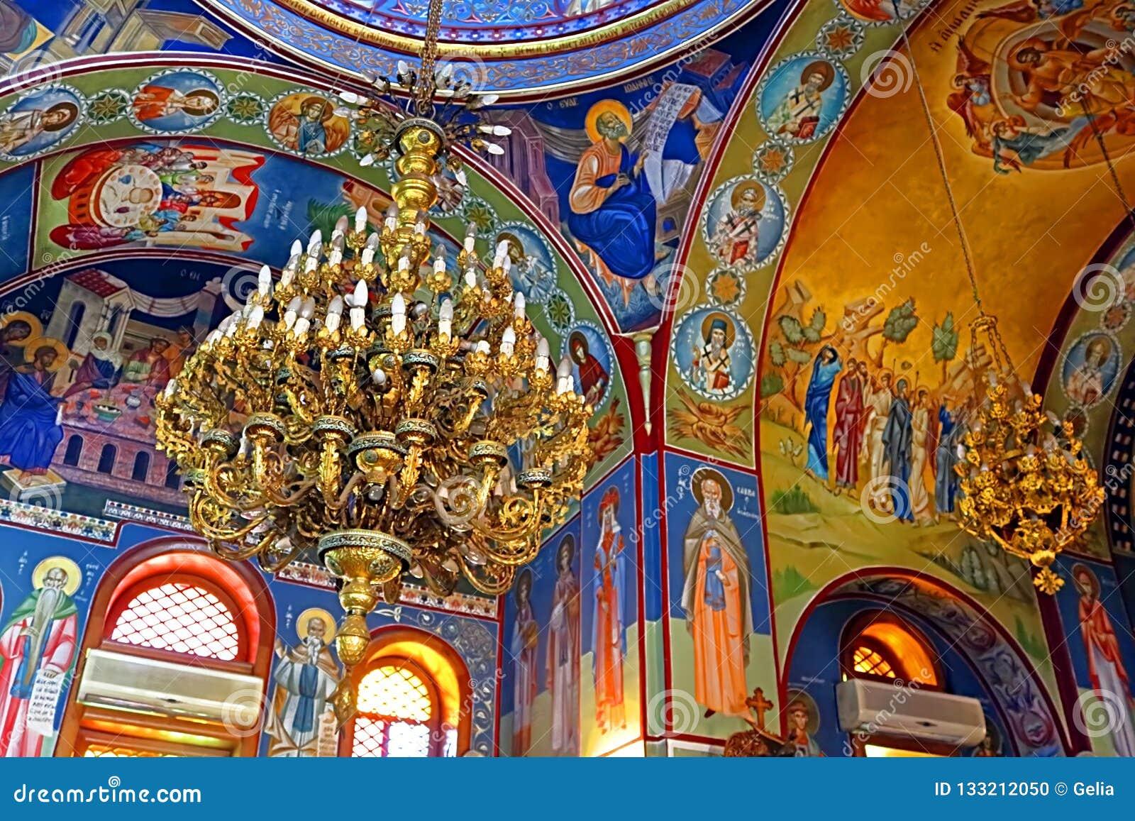 Interior Of Greek Orthodox Church Of St  George, Kafr Cana