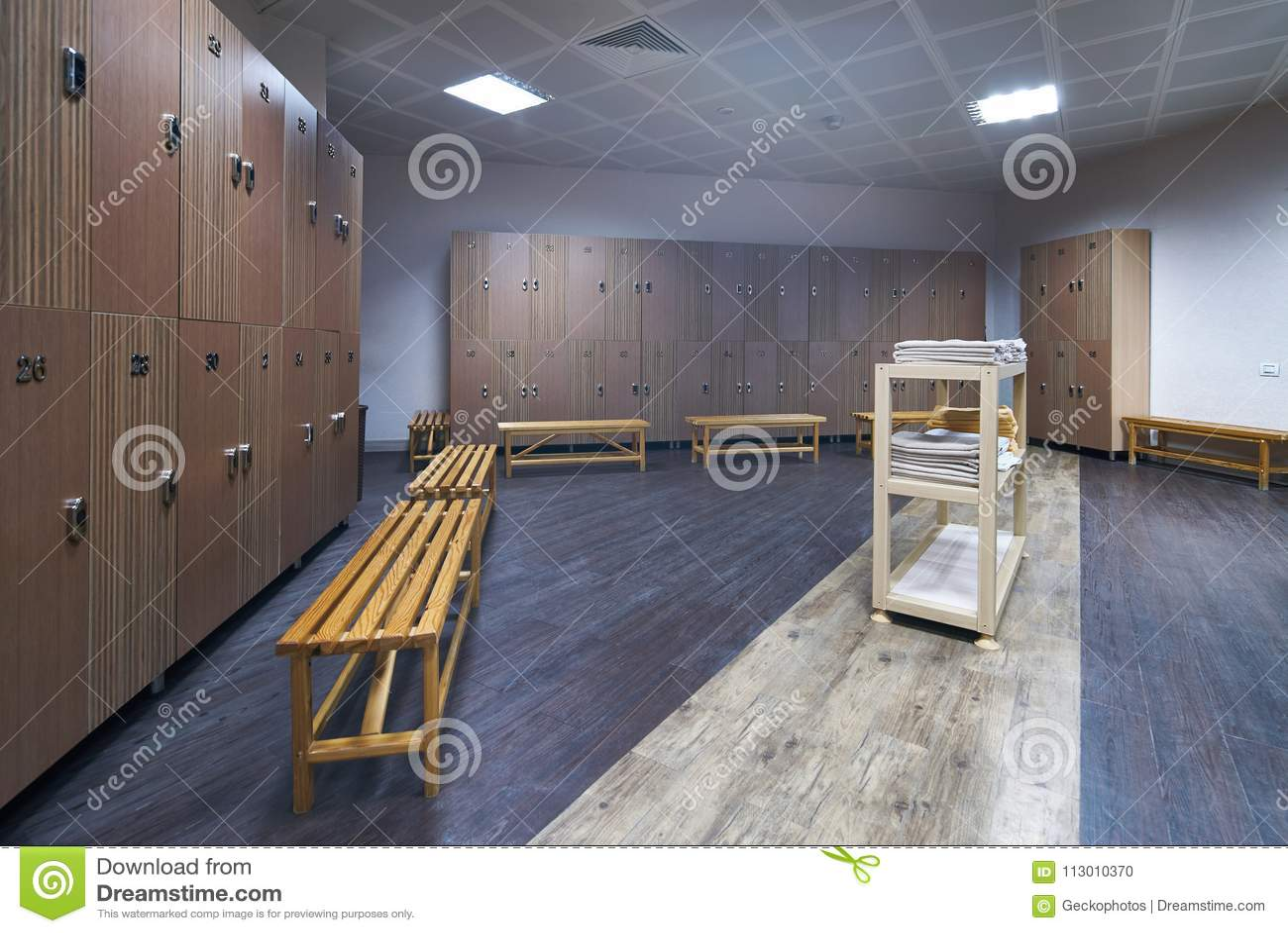 Interior of gym locker room stock photo image of interior