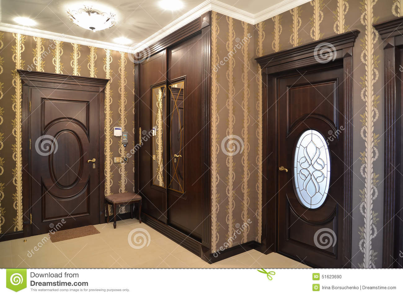 Interior A Hall In Brown Tones Stock Photo Image 51623690