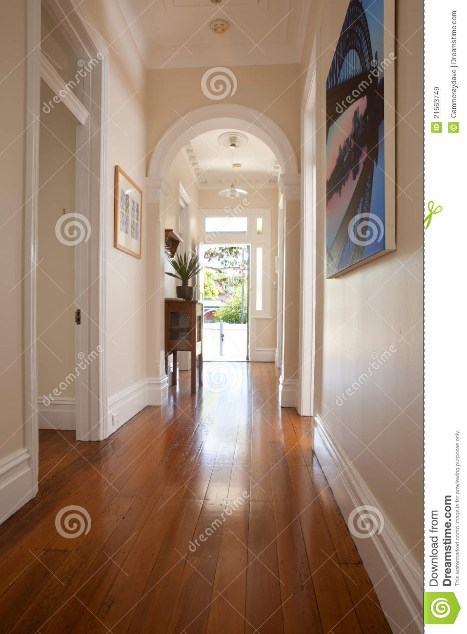 Interior Hallway Entrance Doorway Royalty Free Stock Images - Image ...