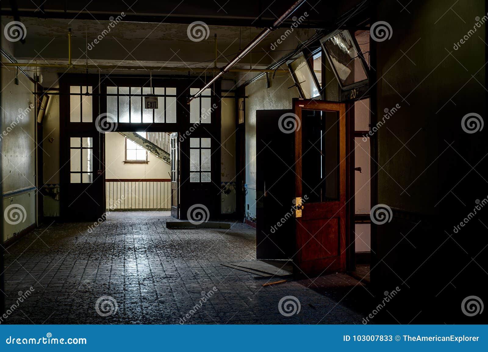 Derelict Hallway - Abandoned Saint Philomena School, East Cleveland, Ohio