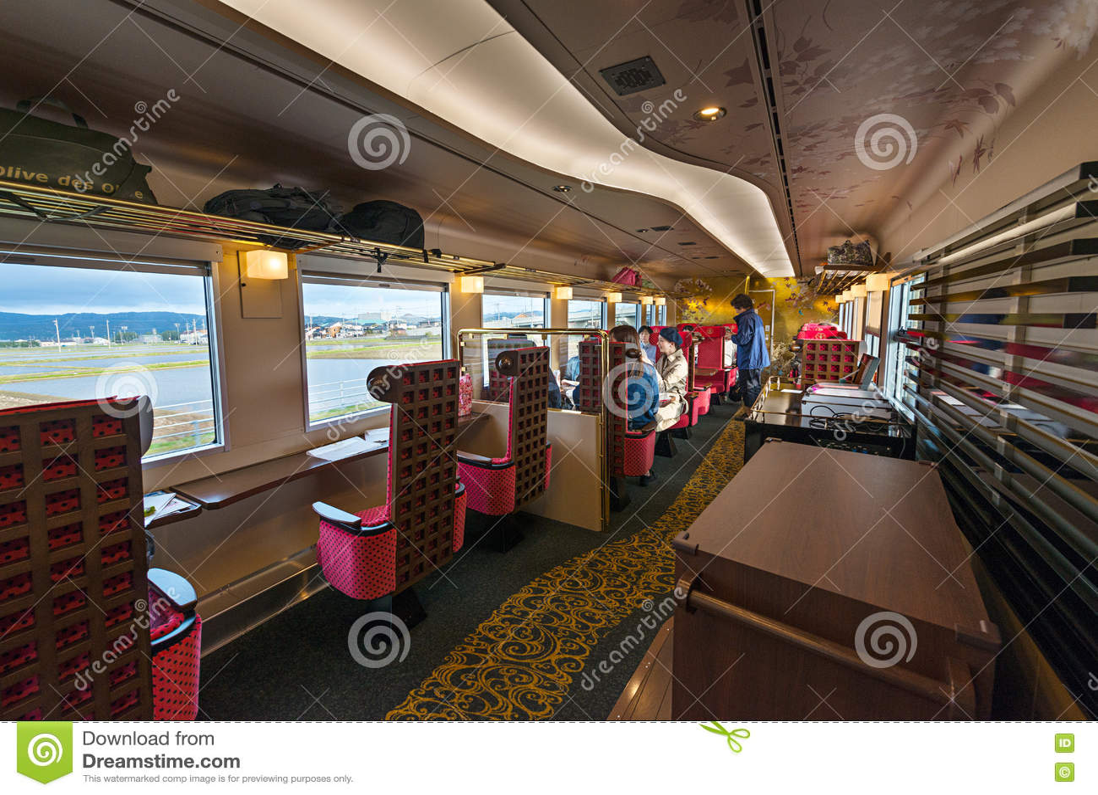 Interior of the Hanayome Noren train 2nd car.