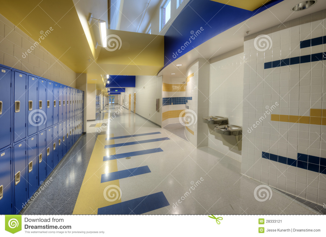 Interior of high school stock image image of dynamic for Interior of school