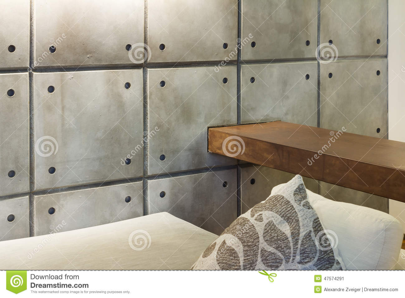 interior home, detail, concrete wall stock photo - image: 47574291