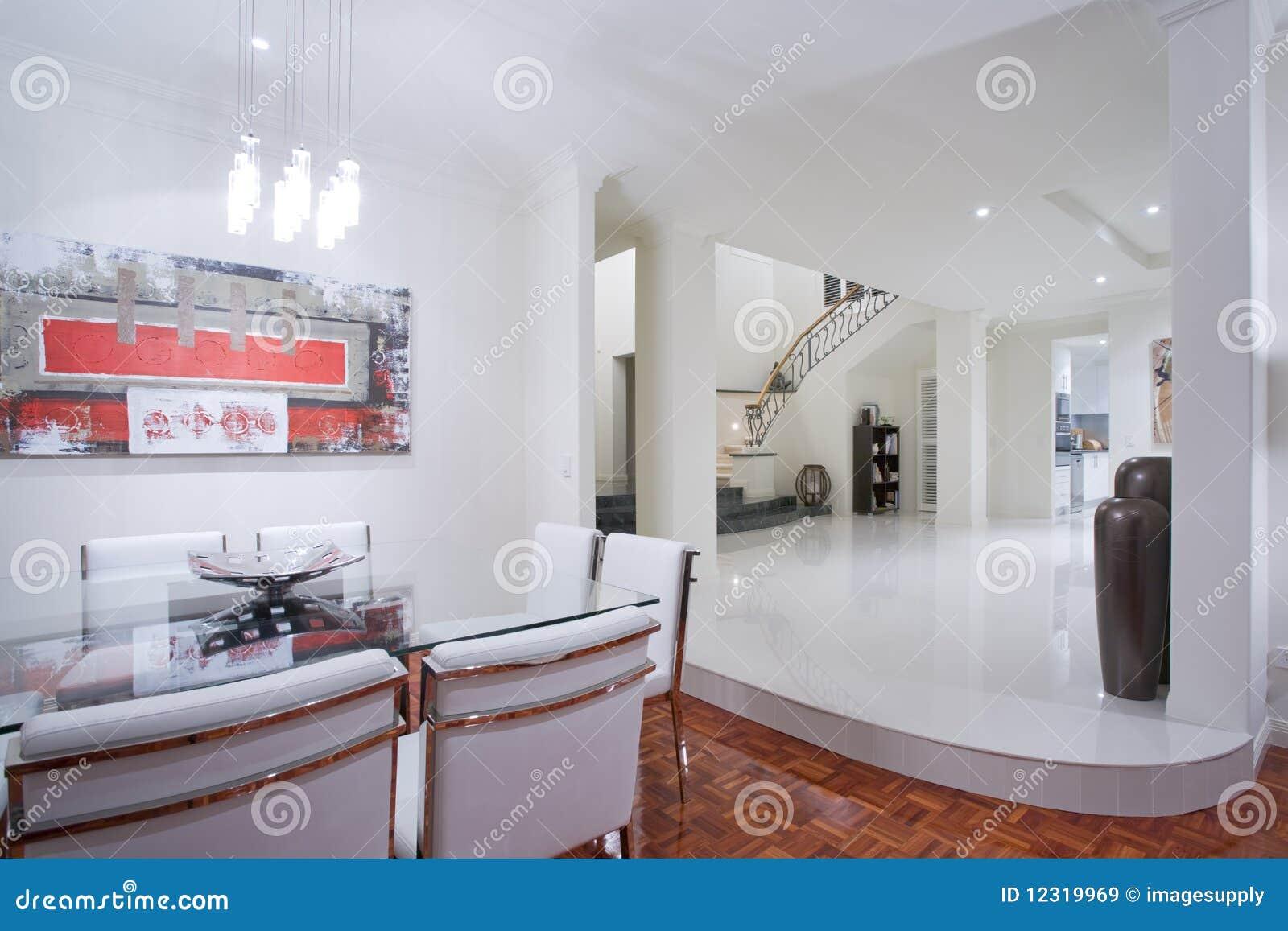Interior home luxuoso da sala de jantar