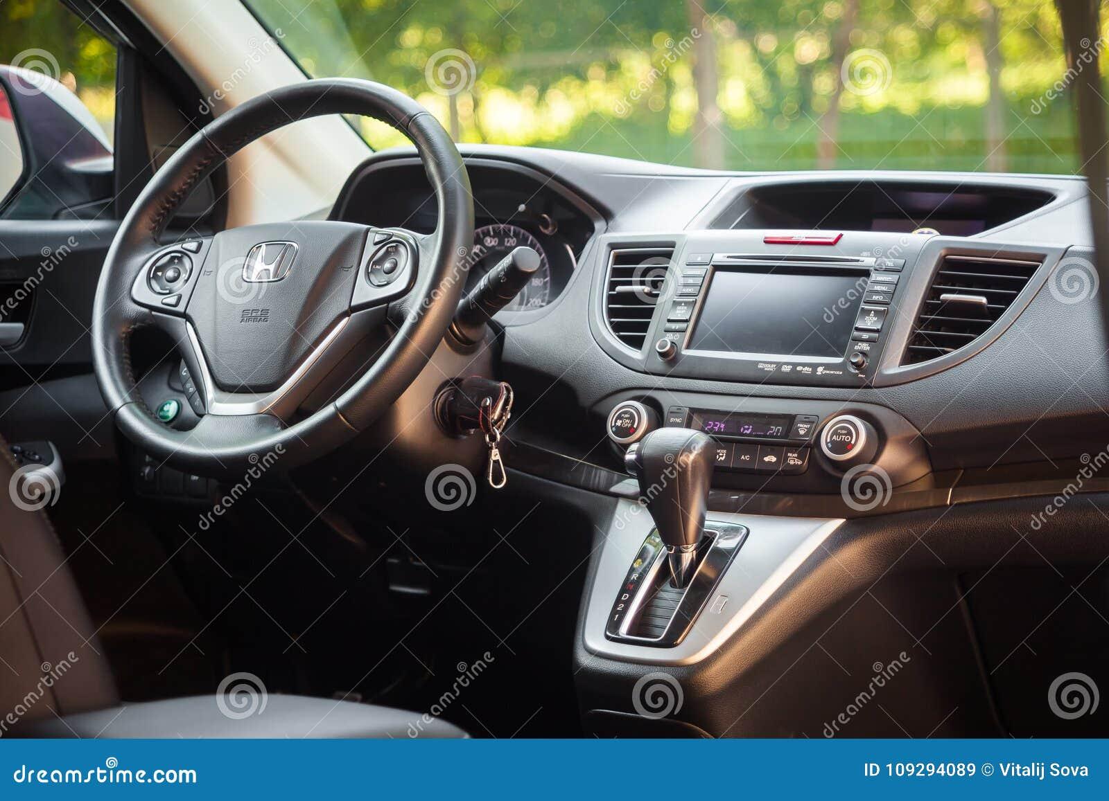 Crv 2017 Interior >> Interior Honda Crv Editorial Stock Image Image Of 2017