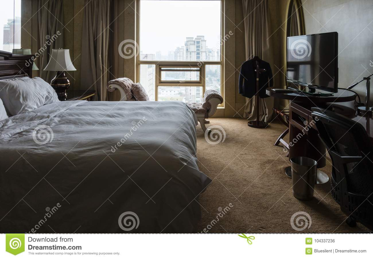 Interior Of A Hotel Room Stock Photo Image Of Bedclothes 104337236