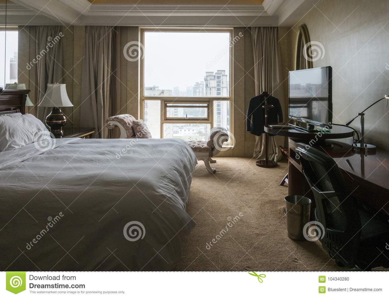 Interior Of A Hotel Room Stock Photo Image Of Bedrooms 104340280
