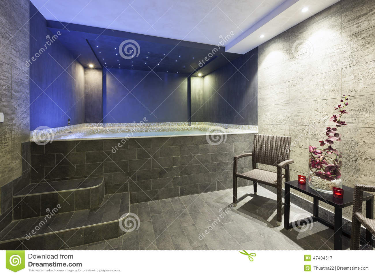 Interior of a modern hotel bathroom jacuzzi royalty free - Jacuzzi para interior ...