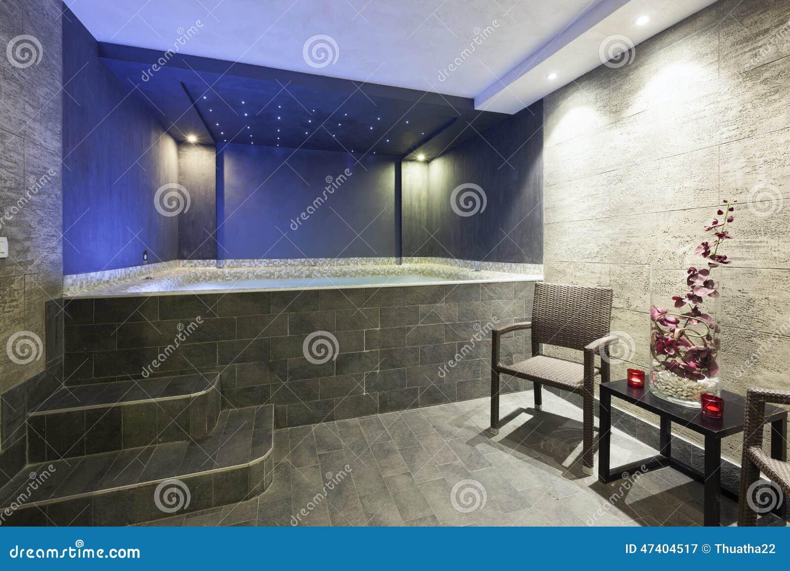 Interior of a modern hotel bathroom jacuzzi royalty free - Jacuzzi de lujo ...