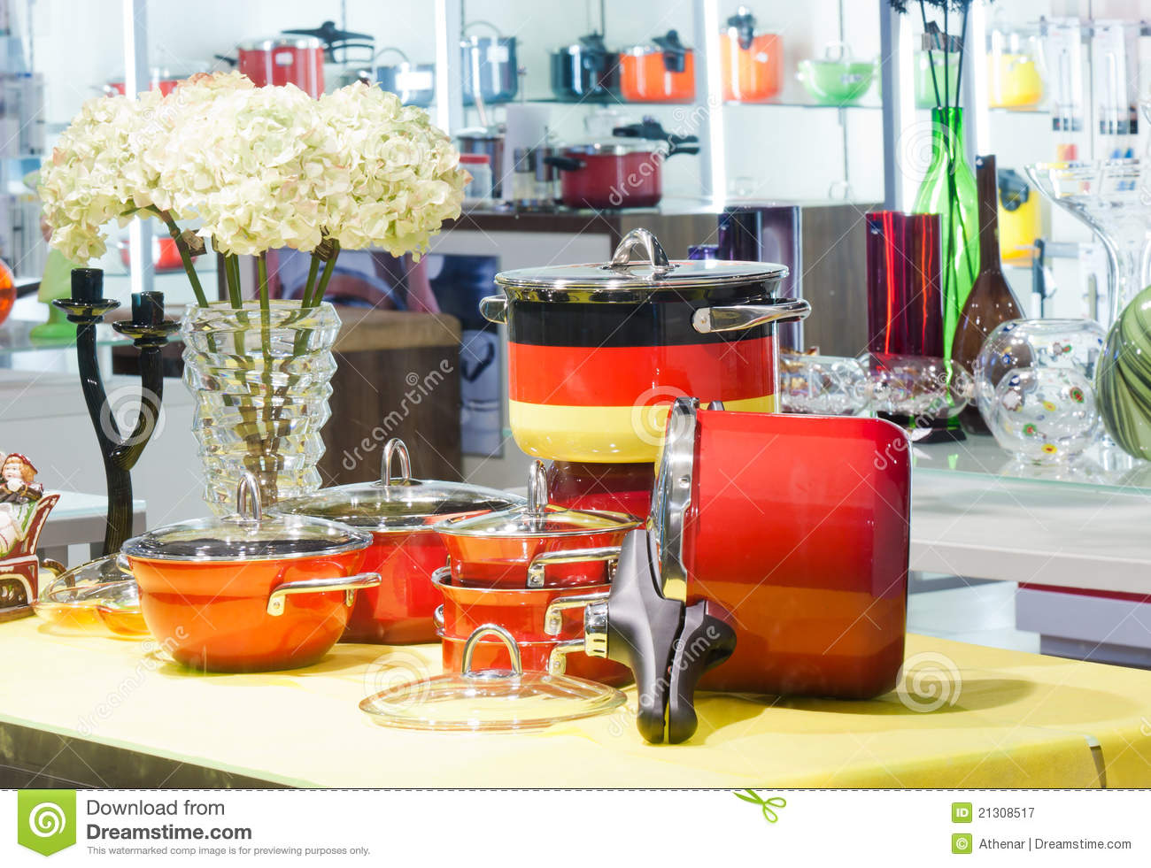 Interior of a household goods store stock image image for Home goods decorations