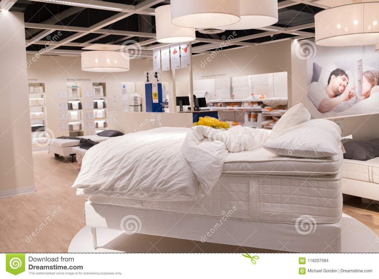 Interior Of An Ikea Store Editorial Stock Image Image Of Furniture