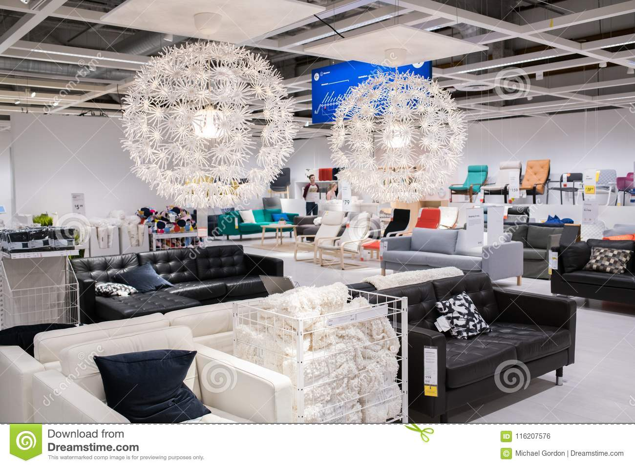 Burbank, CA: May 4, 2018: Interior Of An Ikea Store In Burbank, CA. The  Burbank Ikea Is The Largest Ikea In The United States Of America.
