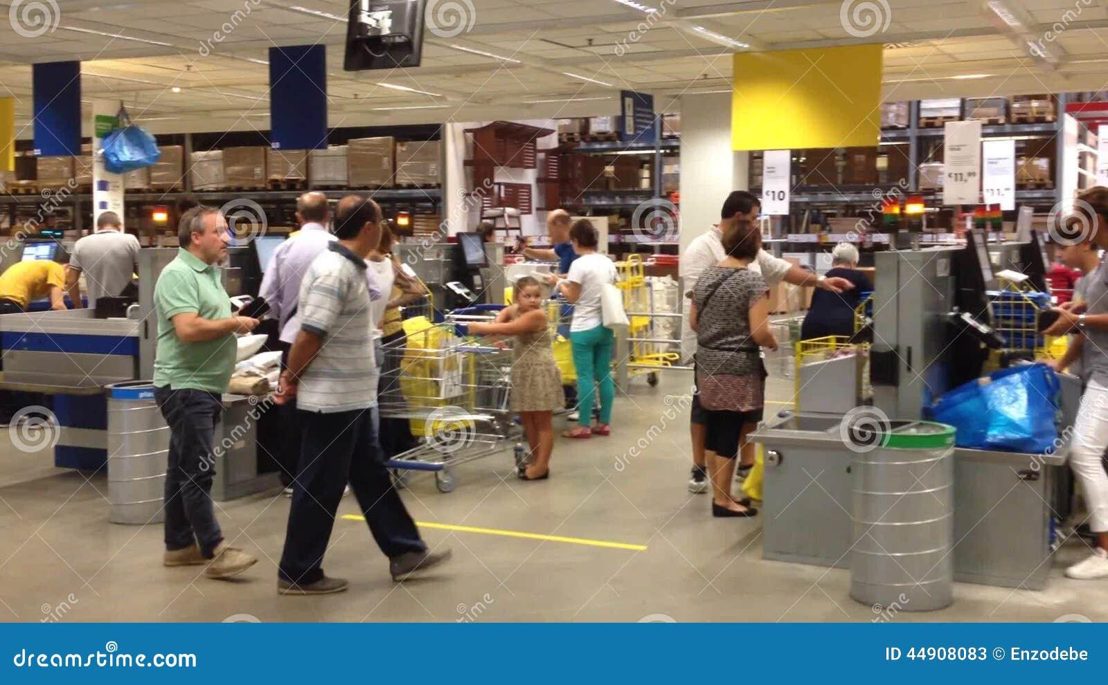 Interior Of Ikea Store Naples Stock Video Video Of Center
