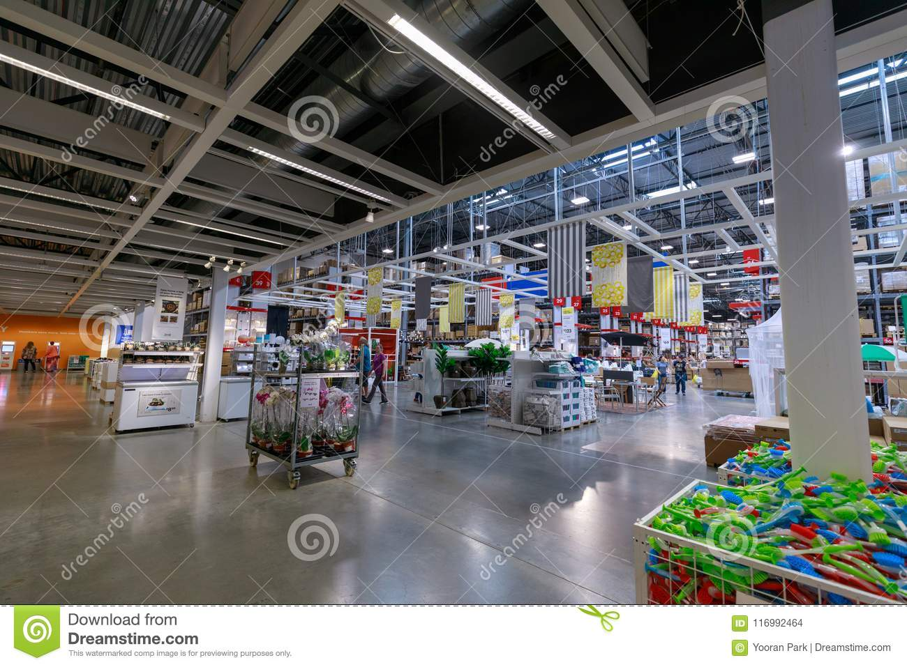 Interior Of The Ikea Store In Portland Oregon Ikea Is The World S