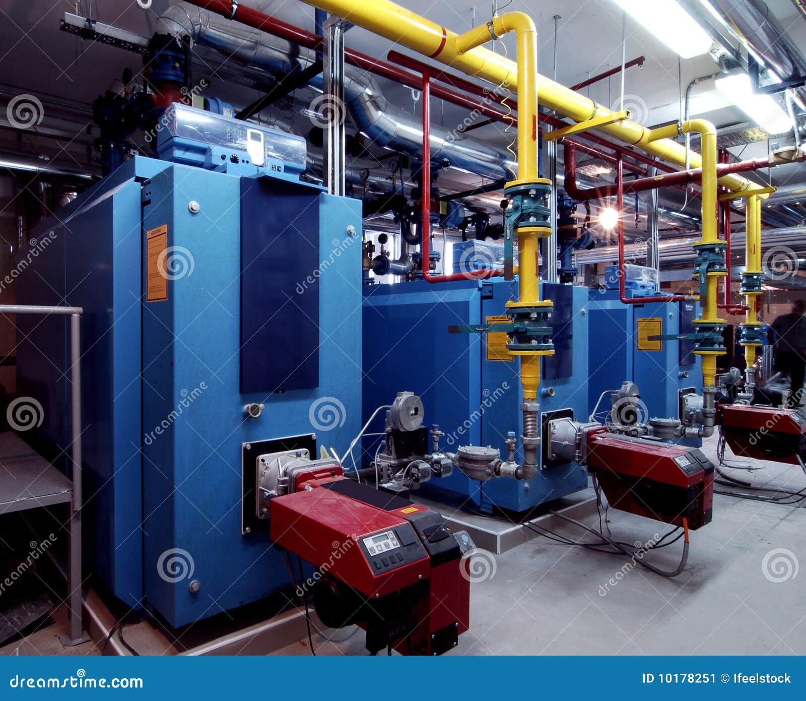 Interior of independent boiler average capacity modern