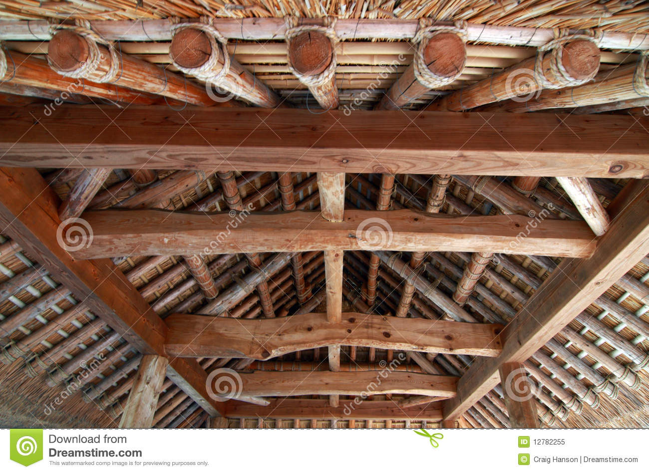 Interior Of Japanese Roof Royalty Free Stock Photo Image