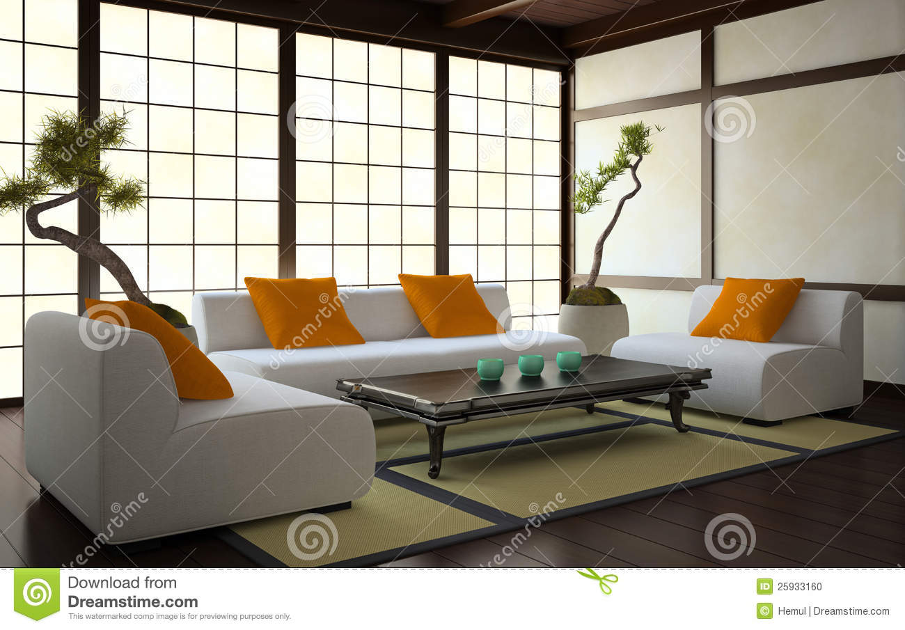 Japanese Style Interiors interior in japanese style stock photo - image: 25933160
