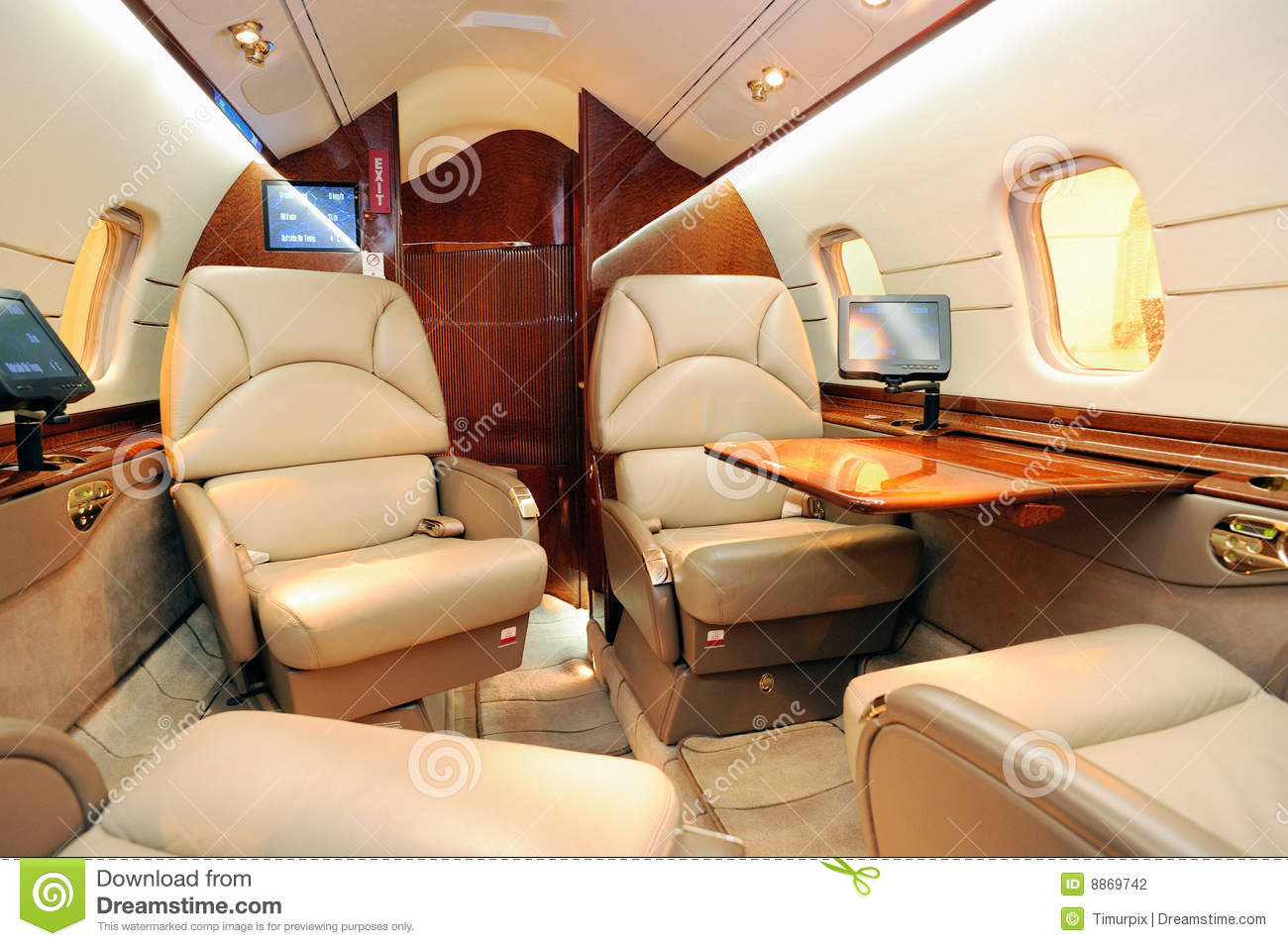 Interior of jet plane stock photography image 8869742 for Interieur avion