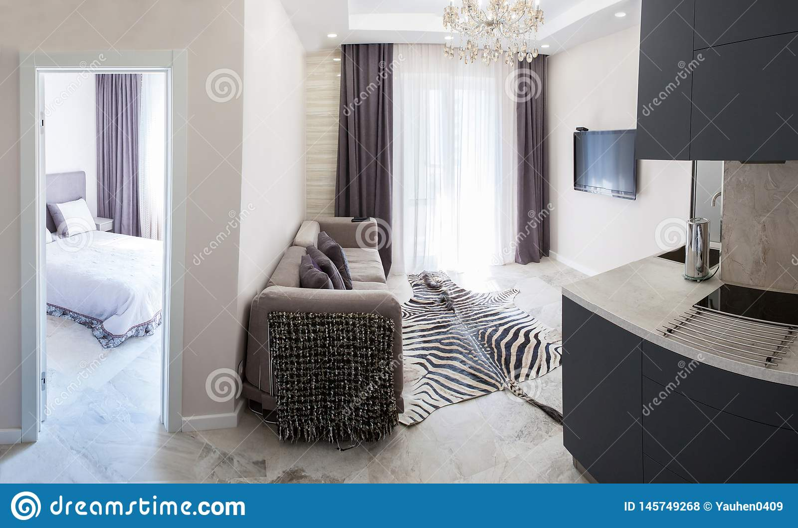 Interior Kitchen Bathroom Living Room Hallway Corridor