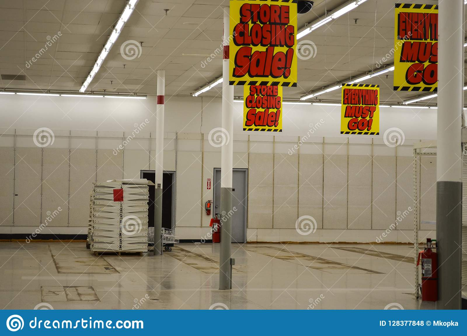 Interior Of A Kmart Store, During The Last Day Of A Going
