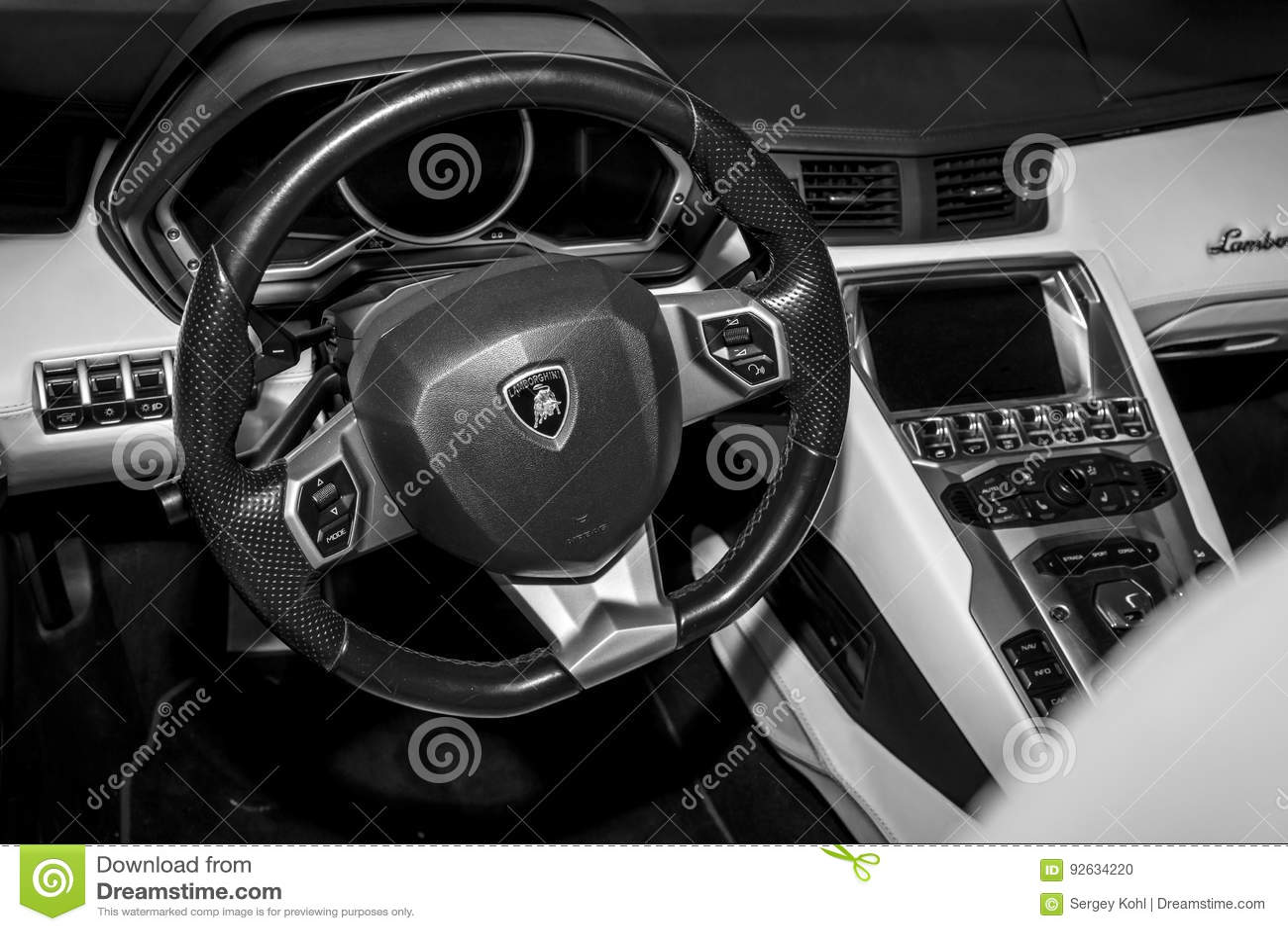 Interior Of Lamborghini Aventador Editorial Image Image Of