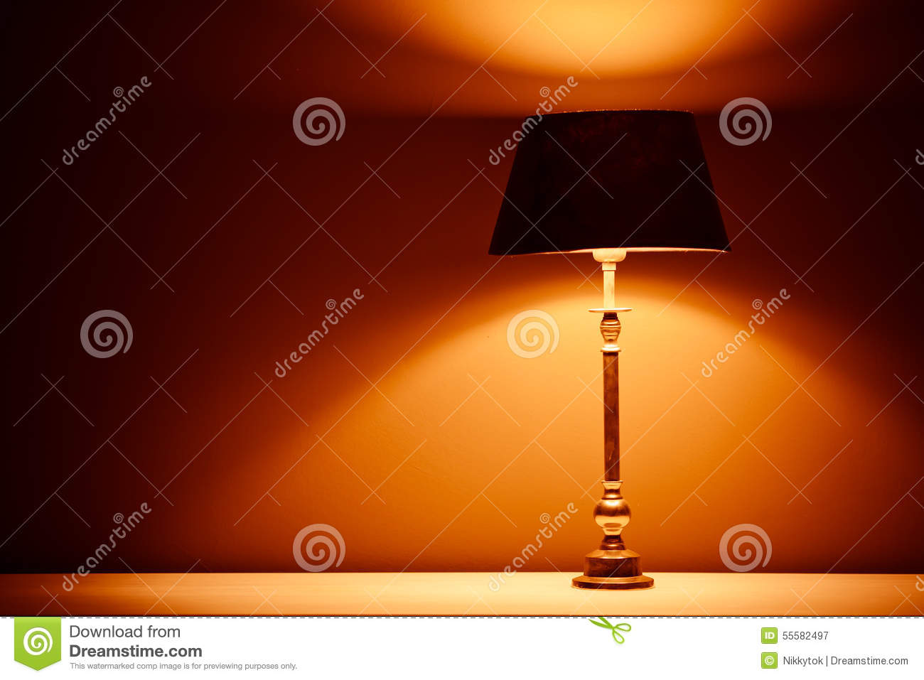 Interior lamp with warm light stock photo image 55582497 for Interior design warm lighting