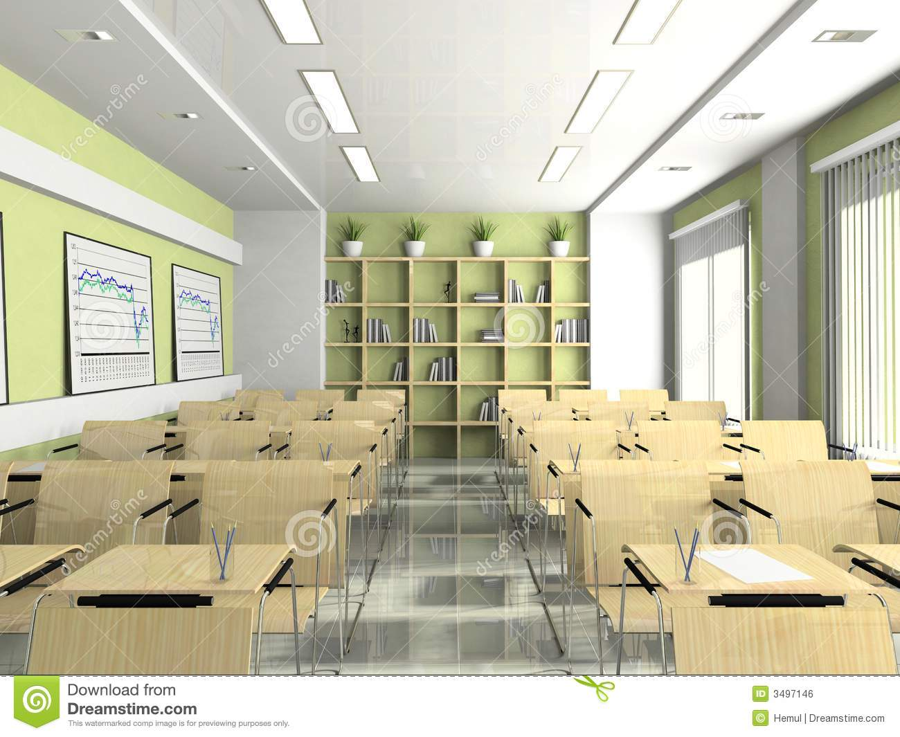 Interior Of The Lecture Room Royalty Free Stock Image