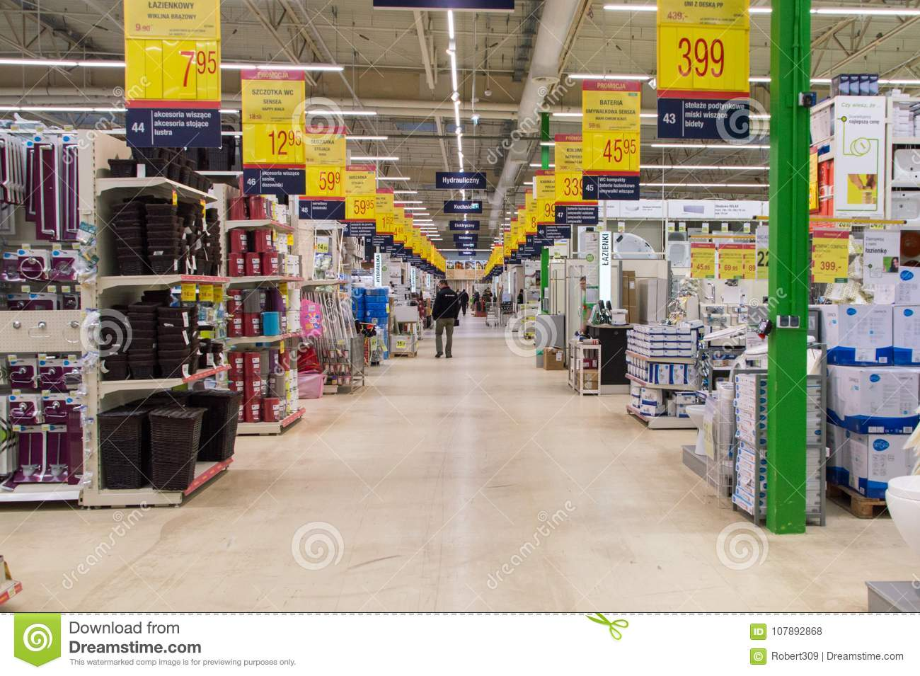 The Interior Of Leroy Merlin Store Editorial Stock Photo