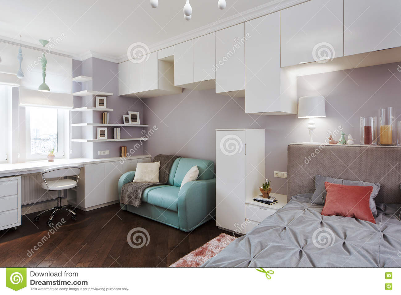 Outstanding Interior Light Childrens Bedroom With A Large Bed And A Andrewgaddart Wooden Chair Designs For Living Room Andrewgaddartcom