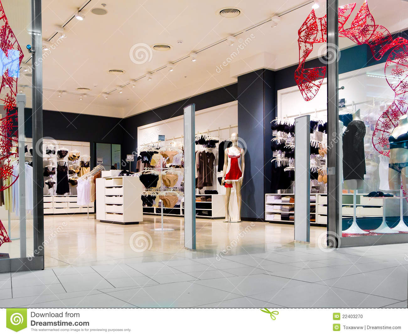 Interior Of Lingerie Shop Stock Photo - Image: 22403270