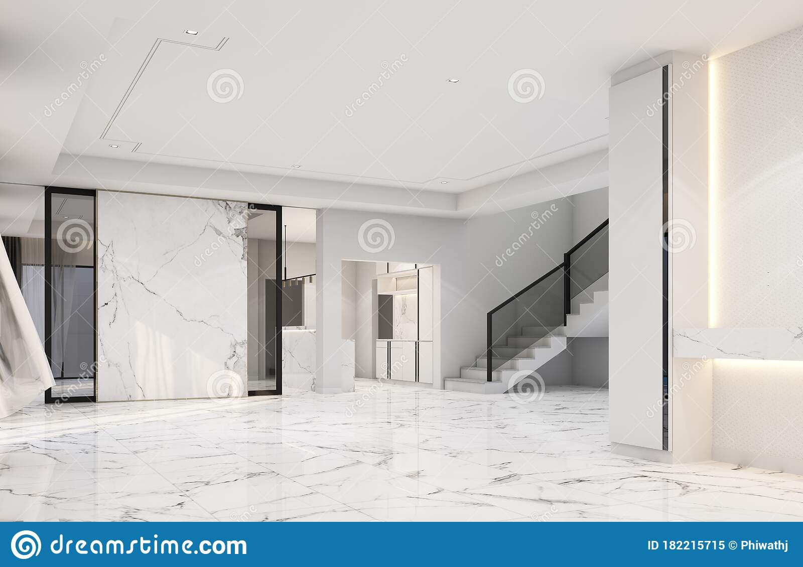 Interior Living Area Without Furniture In Modern Luxury Stock Illustration Illustration Of Decoration Lifestyle 182215715