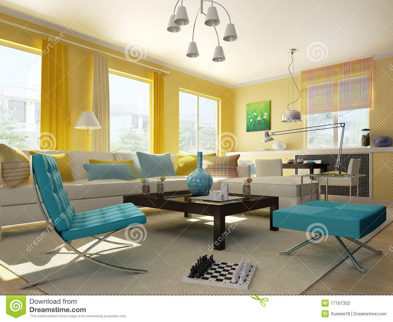 interior living room stock photography image 17167352 interior living room design and visualization
