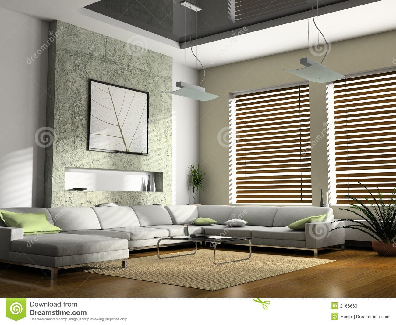 Interior Living-room Royalty Free Stock Images - Image: 2166669