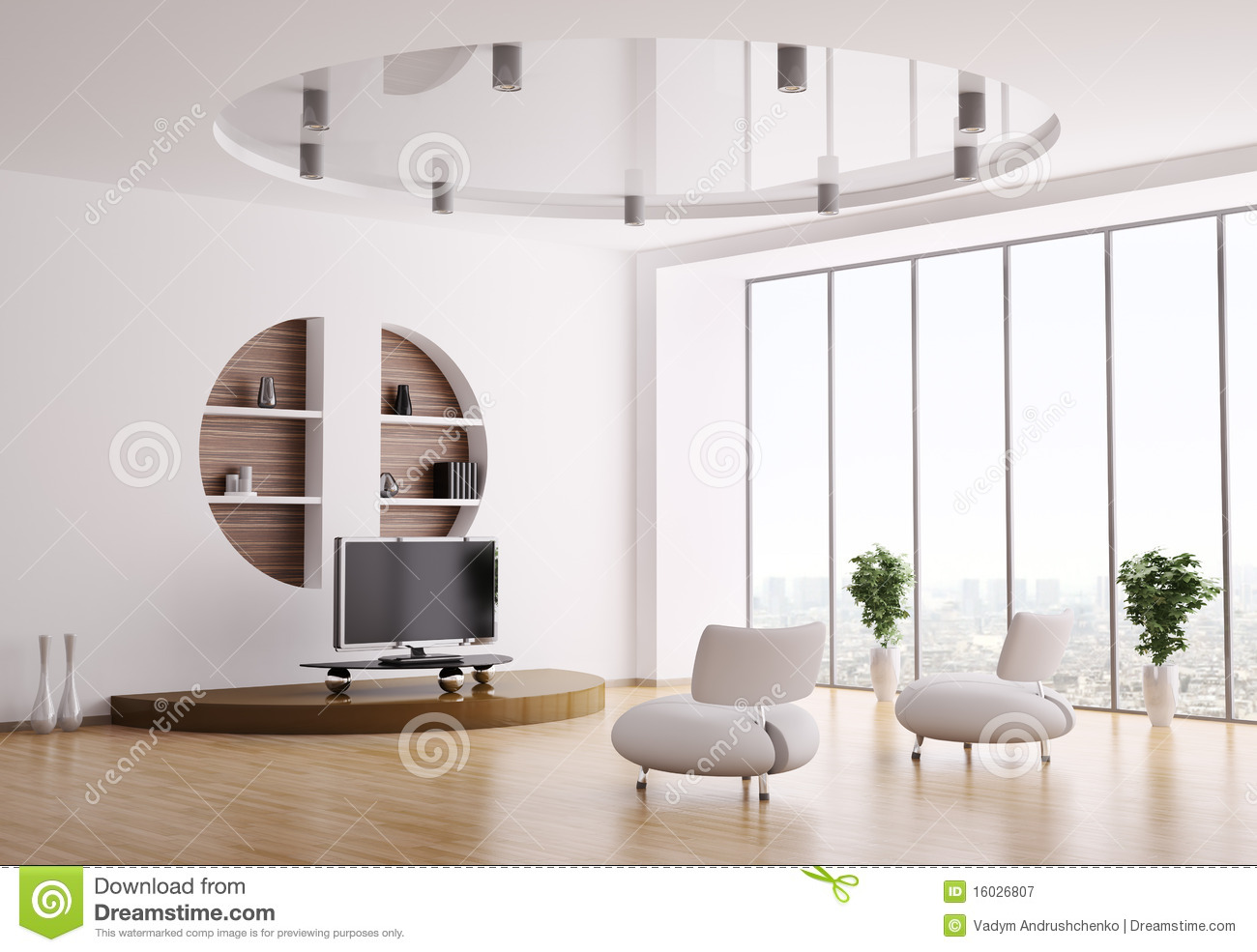 Interior Of Living Room 3d Royalty Free Stock Photography - Image ...