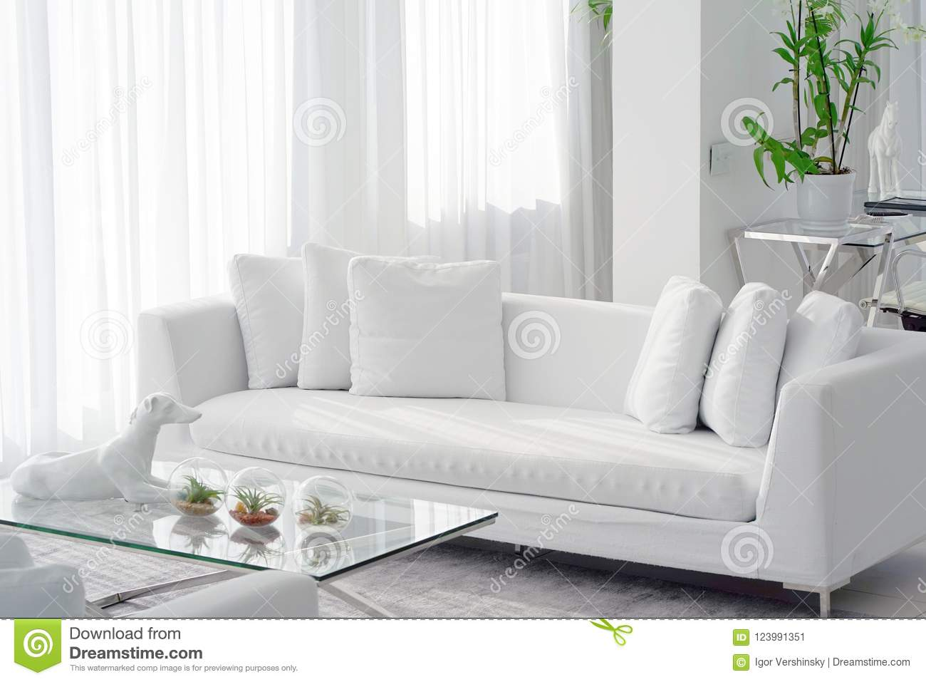 Astounding White Room With Sofa Stock Image Image Of Decoration Pdpeps Interior Chair Design Pdpepsorg