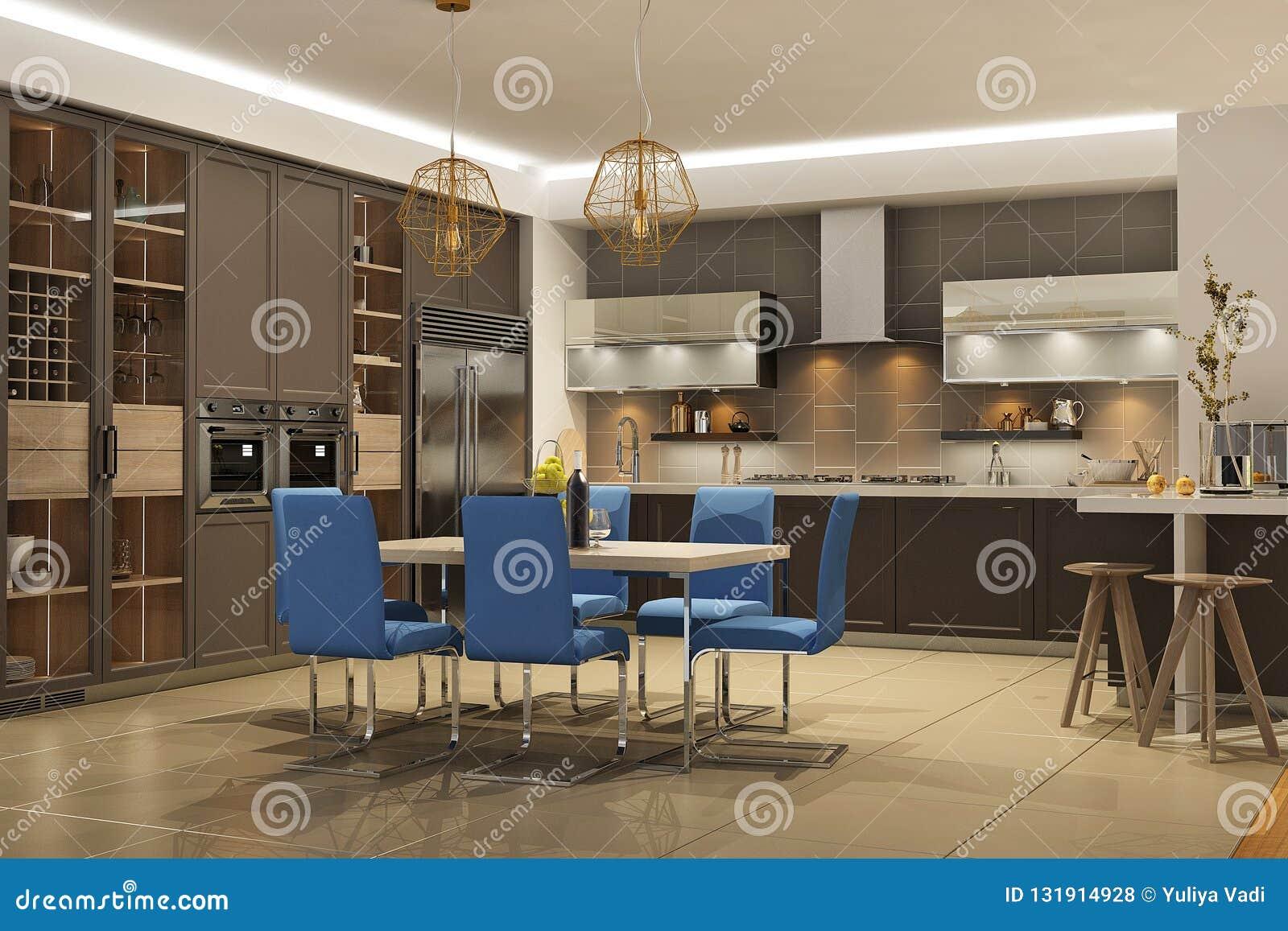 Strange Modern Style Interior Of Living Room With The Kitchen In Inzonedesignstudio Interior Chair Design Inzonedesignstudiocom