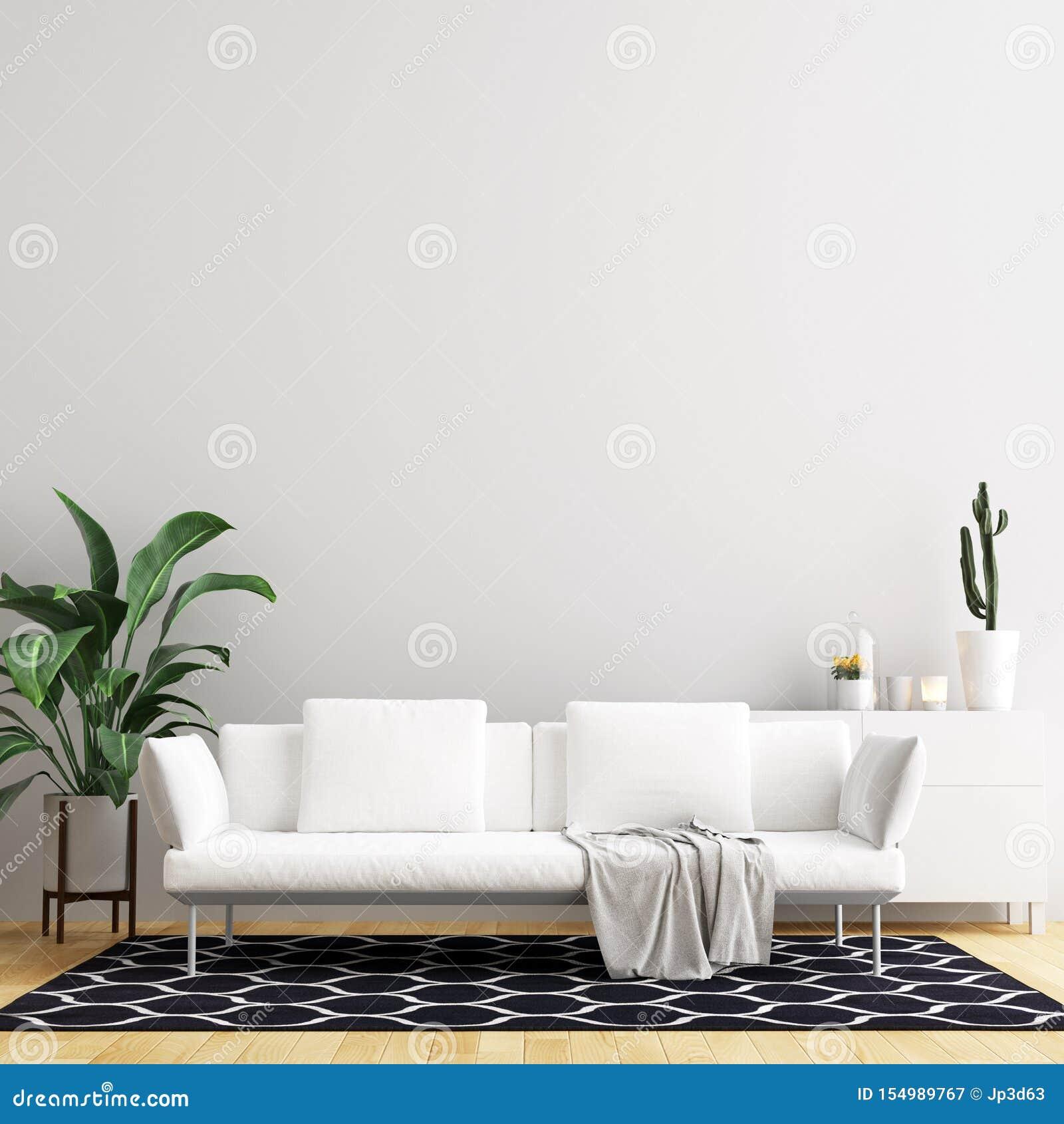 Interior Living Room Wall Mock Up Background Stock Illustration Illustration Of Floor Inteiror 154989767