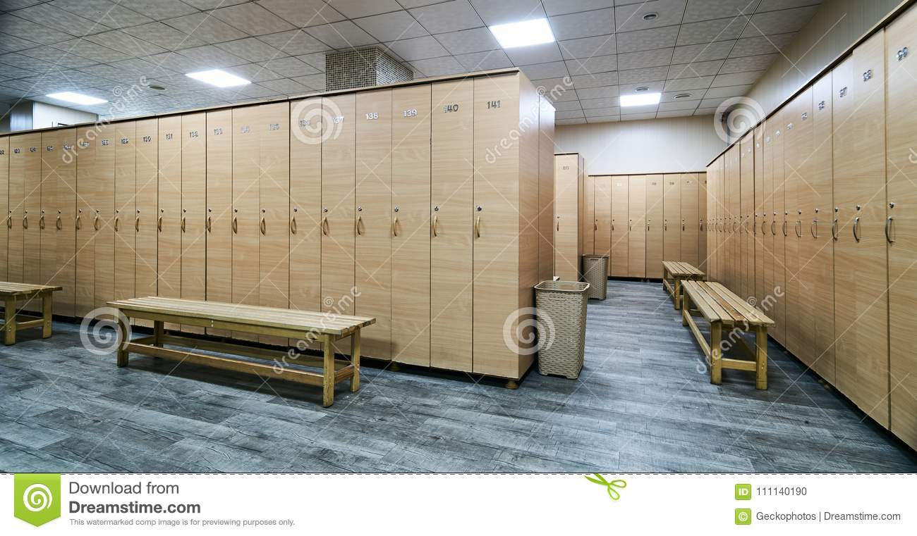 Interior of locker room in the gym stock photo image of closet