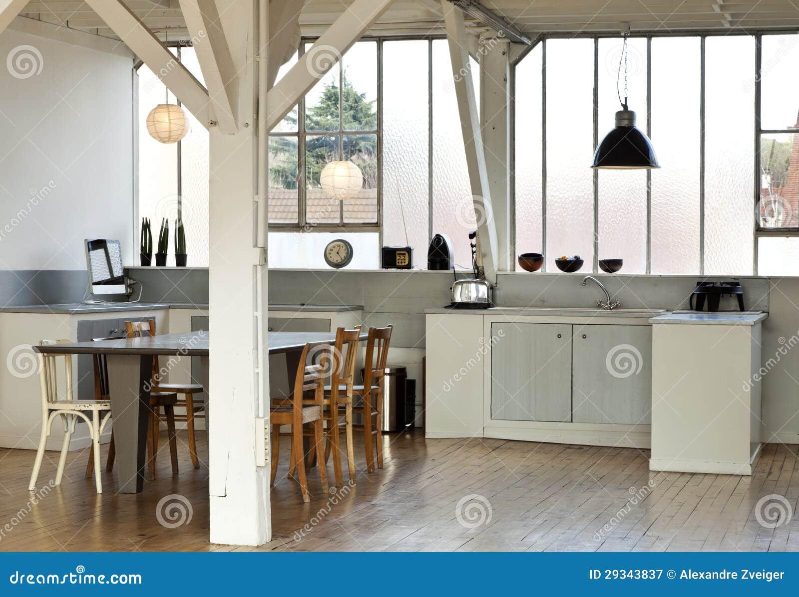 Loft Kitchen Interior Loft Kitchen Royalty Free Stock Photography Image