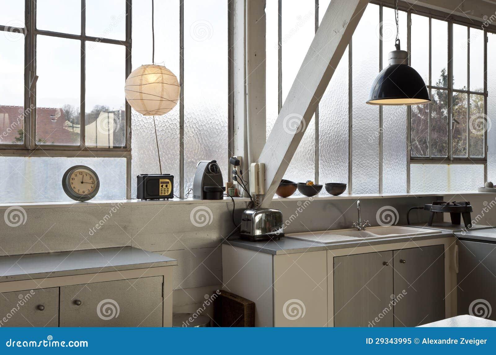 Loft Kitchen Interior Loft Kitchen Royalty Free Stock Photo Image 29343995