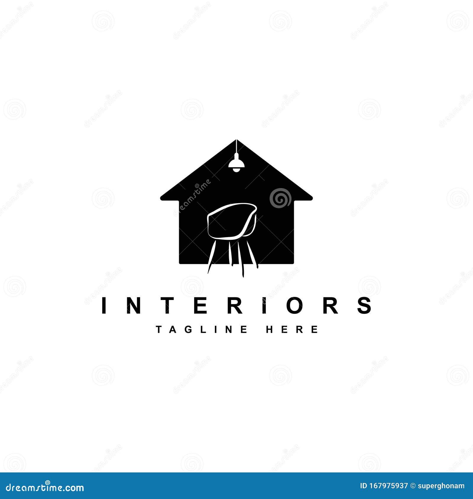 Interior Logo Design Illustration.House And Furniture ...