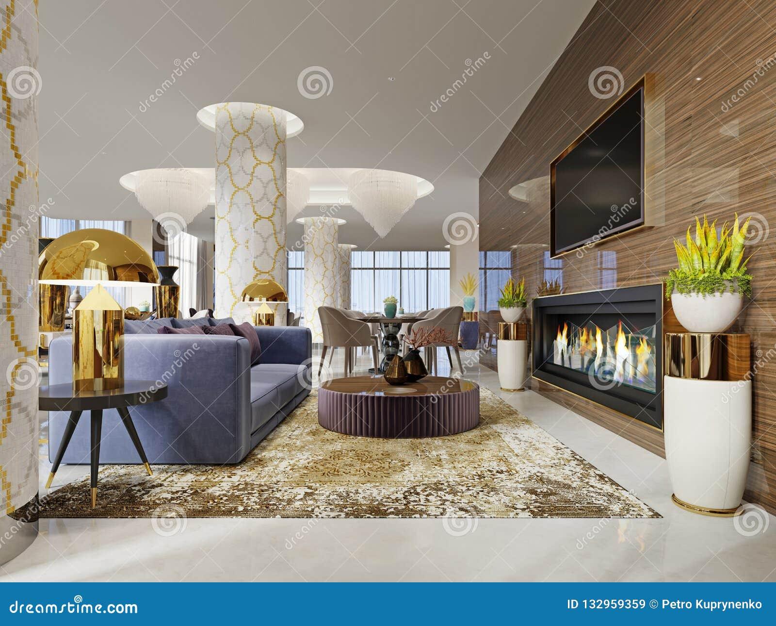 Interior luxuoso da entrada