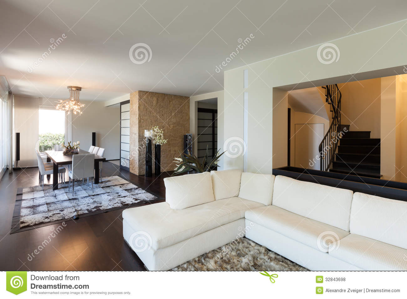 Interior luxury apartment beautiful living room
